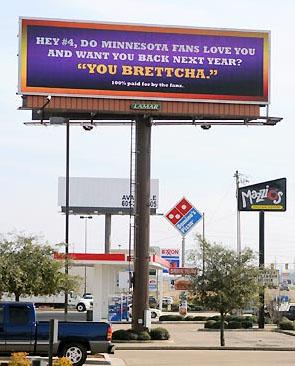 Brett Favre Billboard
