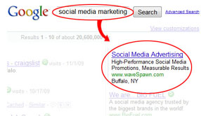Targeted keyword advertising